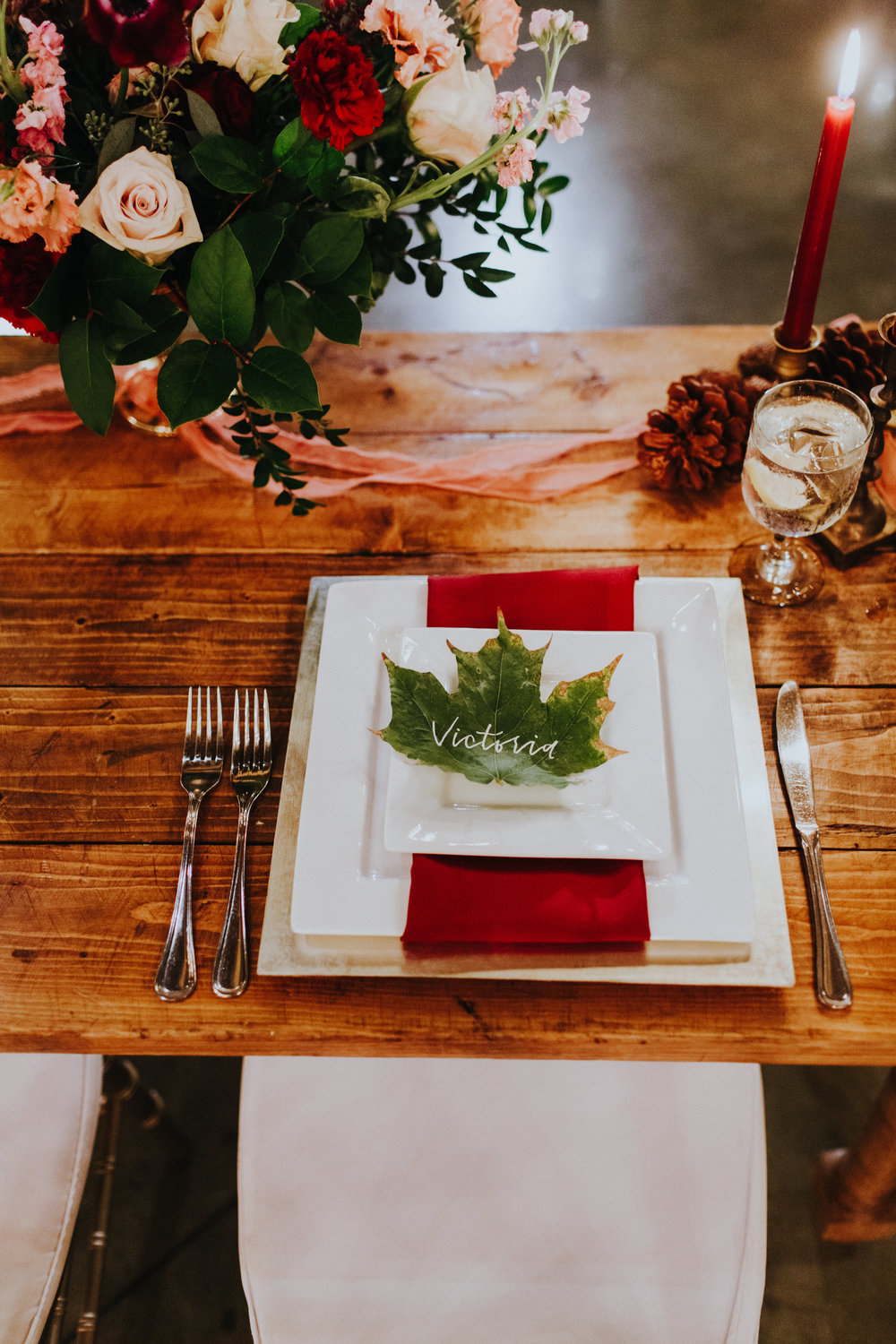 Fall Wedding Place Setting- Pollen and Pastry