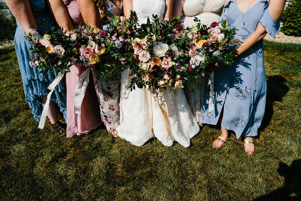 Mismatched Bridesmaids Bouquets- Pollen and Pastry