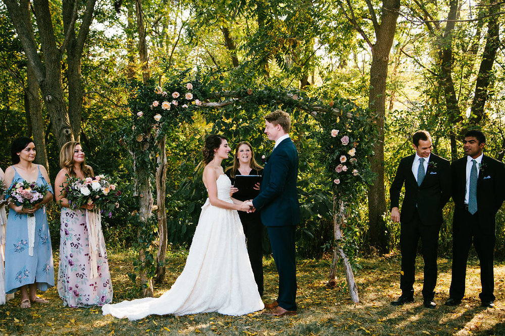 Rustic Outdoor Wedding Arbor- Pollen and Pastry