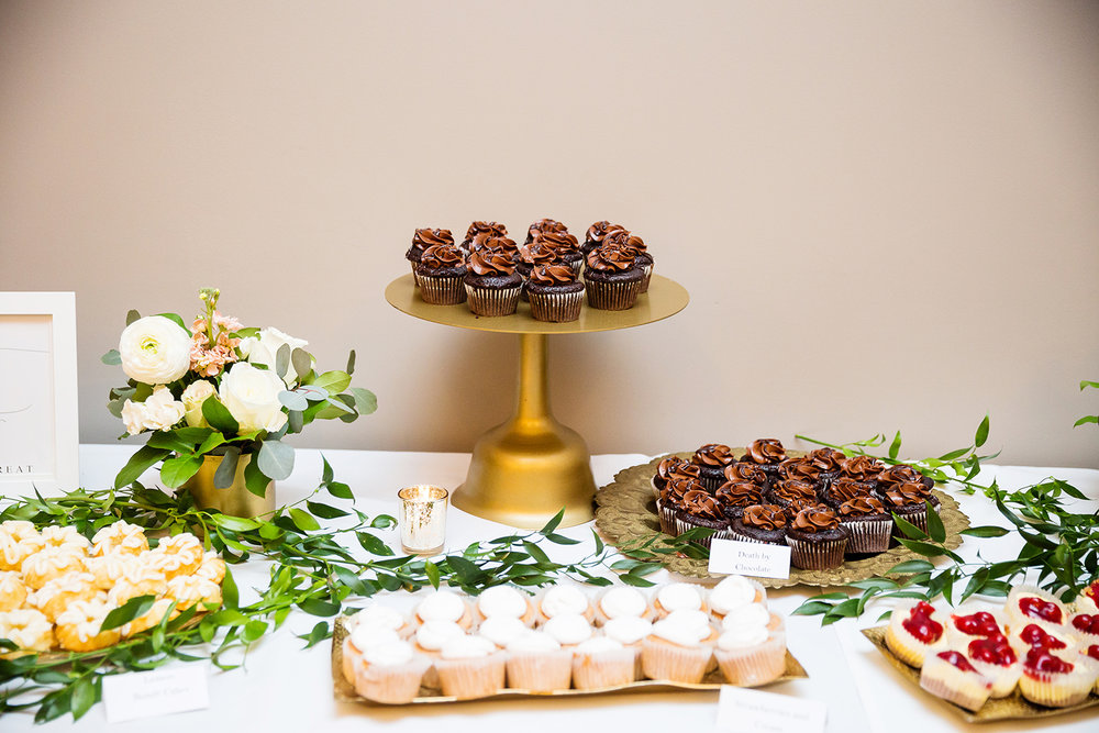 Gold dessert table