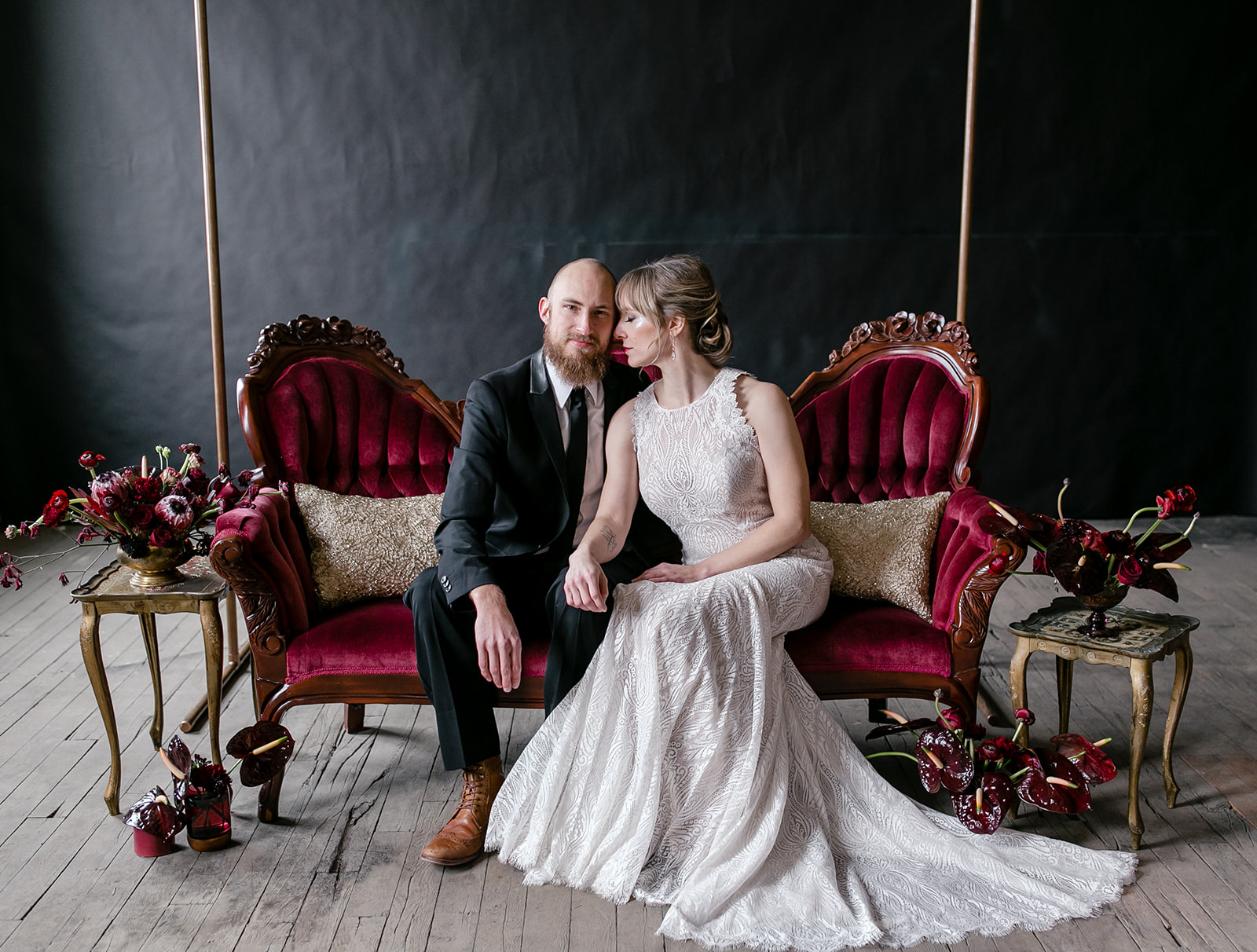 0baf2089f71d This couch from Spruce Wedding Rentals was the perfect choice to fit our  dark and moody vibe. Can you imagine taking your wedding portraits on a  piece like ...