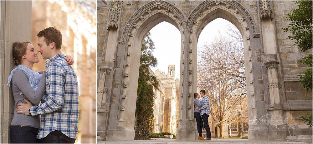 Engagement portraits with stunning Rothschild Arch | Christina Keddie Photography | Princeton NJ engagement photographer
