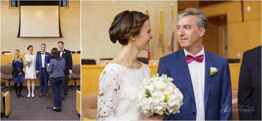Courthouse wedding ceremony | Christina Keddie Photography | Princeton NJ wedding photographer