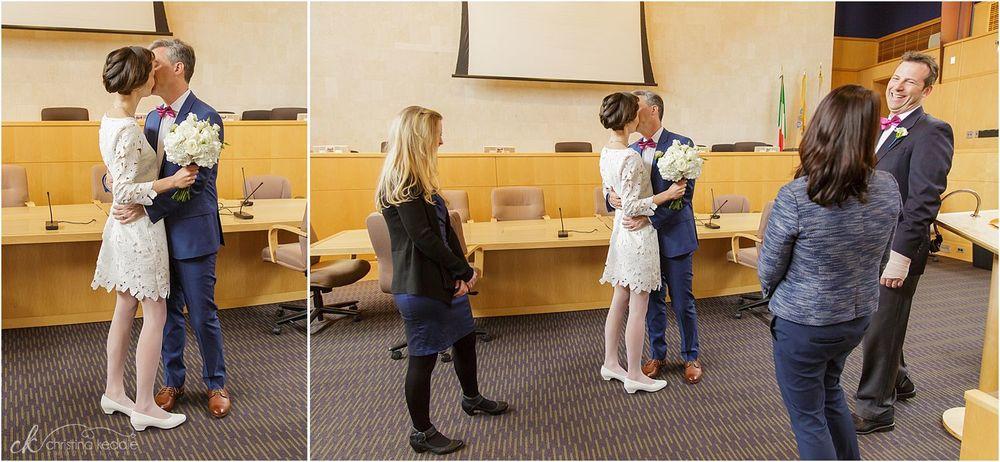 Wedding ceremony first kiss | Christina Keddie Photography | Princeton NJ wedding photographer