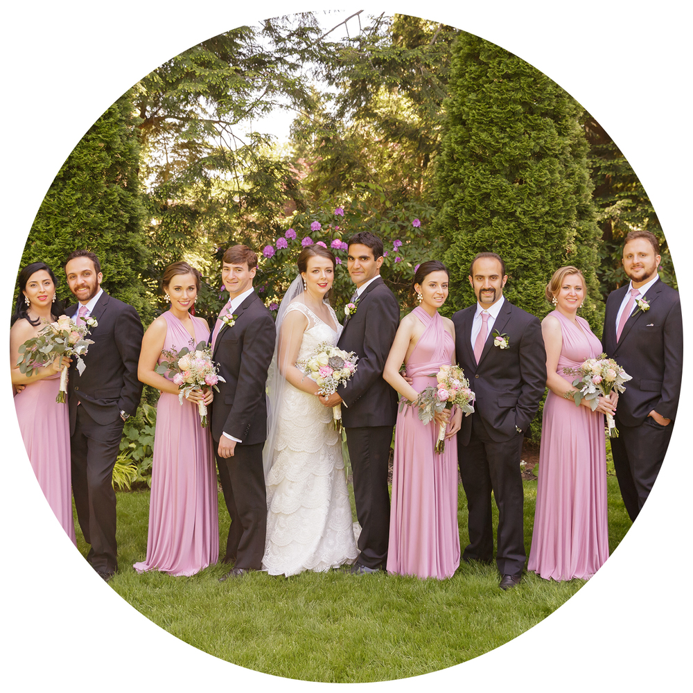 Wedding bridal party formal portrait | Christina Keddie Photography | New Jersey wedding photographer rave review