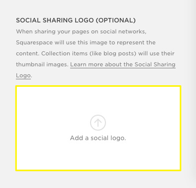 Squarespace social sharing logo image for Facebook | Squarespace mentoring and tutorials