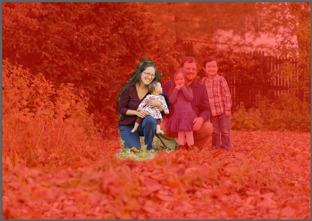 Mask overlay in headswap for family portrait | Christina Keddie Photography | Photoshop tutorials