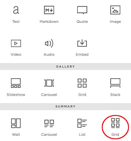 Summary block options for Squarespace blog presentation   Christina Keddie Photography   Squarespace web design tutorials