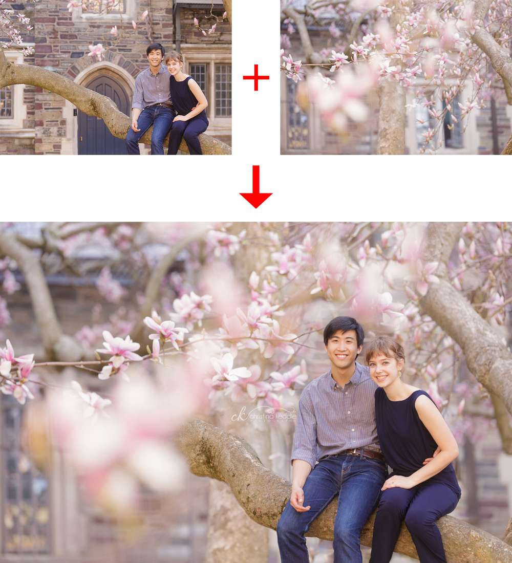 Creative composite of photos for engagement portrait | Christina Keddie Photography | Photoshop tutorials