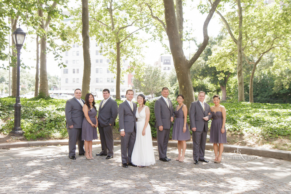 Bridal party formal portrait in Prospect Park | Christina Keddie Photography | Brooklyn NY wedding photographer
