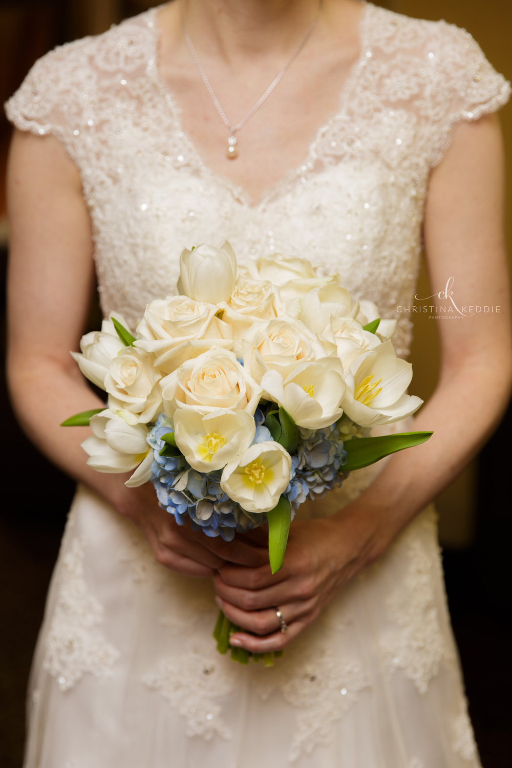 Bride holding wedding bouquet | Christina Keddie Photography | Princeton NJ wedding photographer