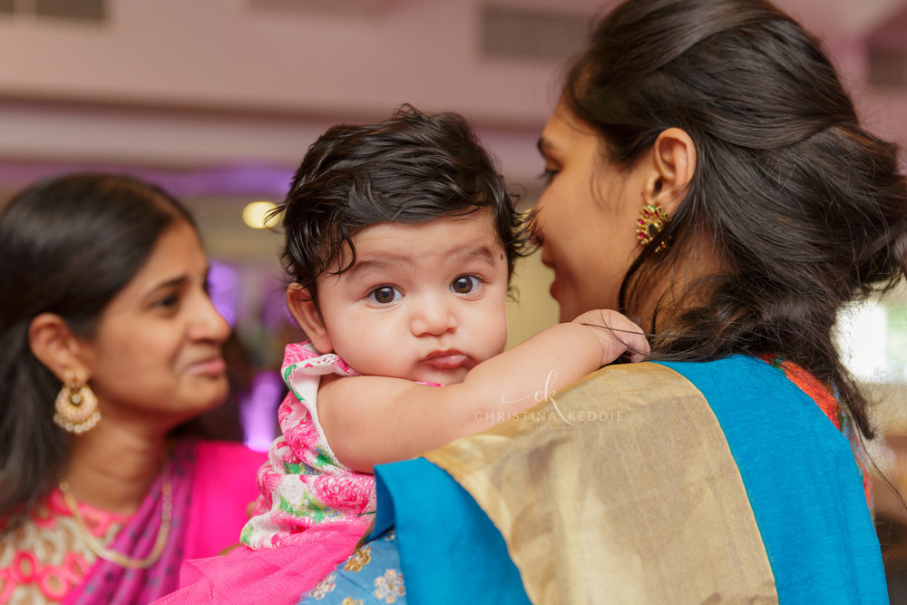 Baby party little girl in sari | Christina Keddie Photography | Princeton NJ event photographer