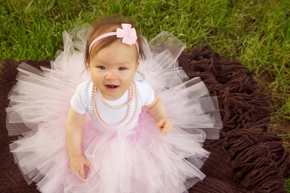 One-year-old girl in pink tutu | Christina Keddie Photography | Princeton NJ children photographer