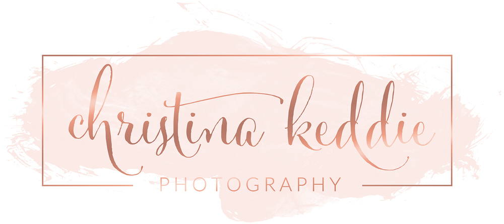Rose gold watercolor calligraphy brand | Christina Keddie Photography