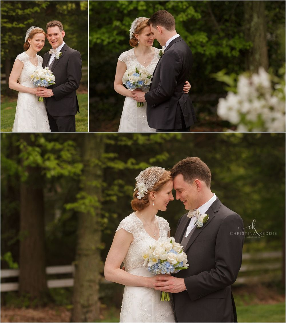 Bride and groom formals in wooded area | Christina Keddie Photography | Cherry Hill NJ wedding photographer