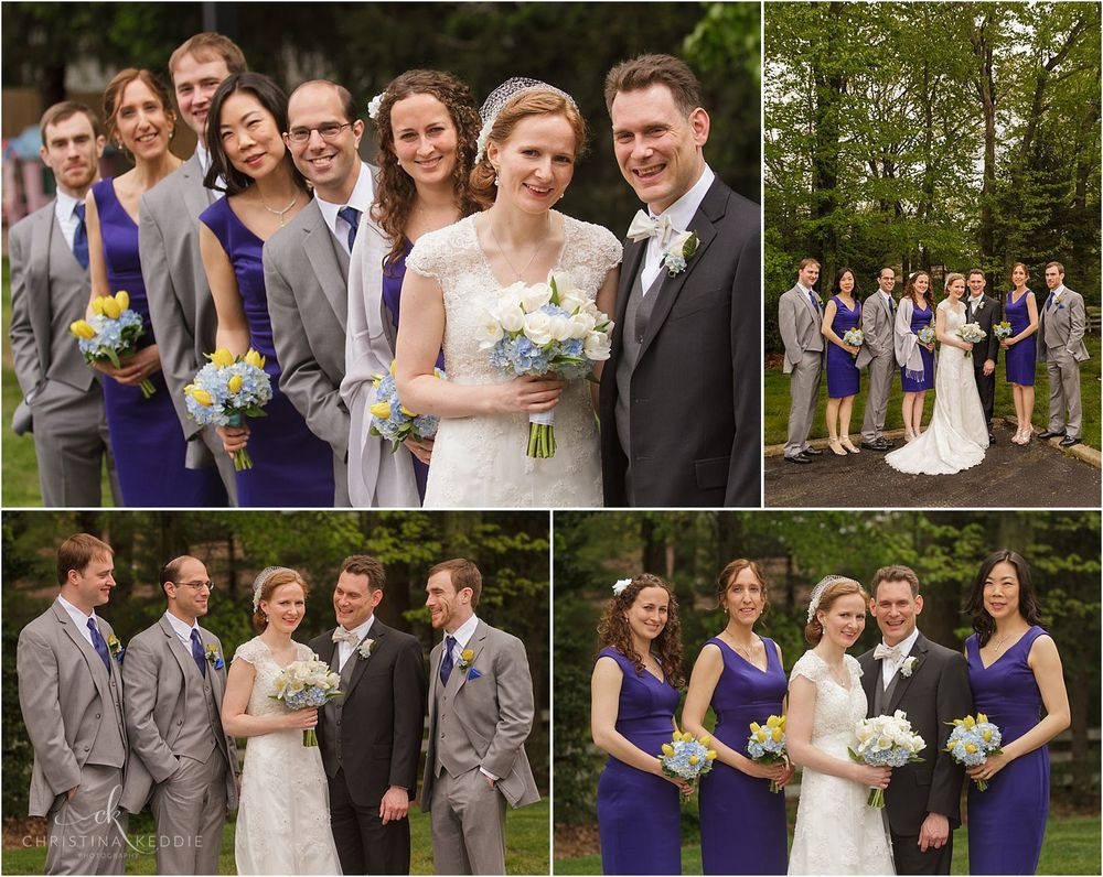 Bridal party formal portraits in wooded area | Christina Keddie Photography | Cherry Hill NJ wedding photographer