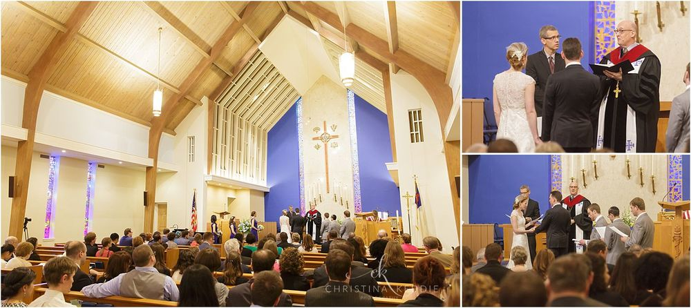 Wedding ceremony inside Trinity Presbyterian Church | Christina Keddie Photography | Cherry Hill NJ wedding photographer
