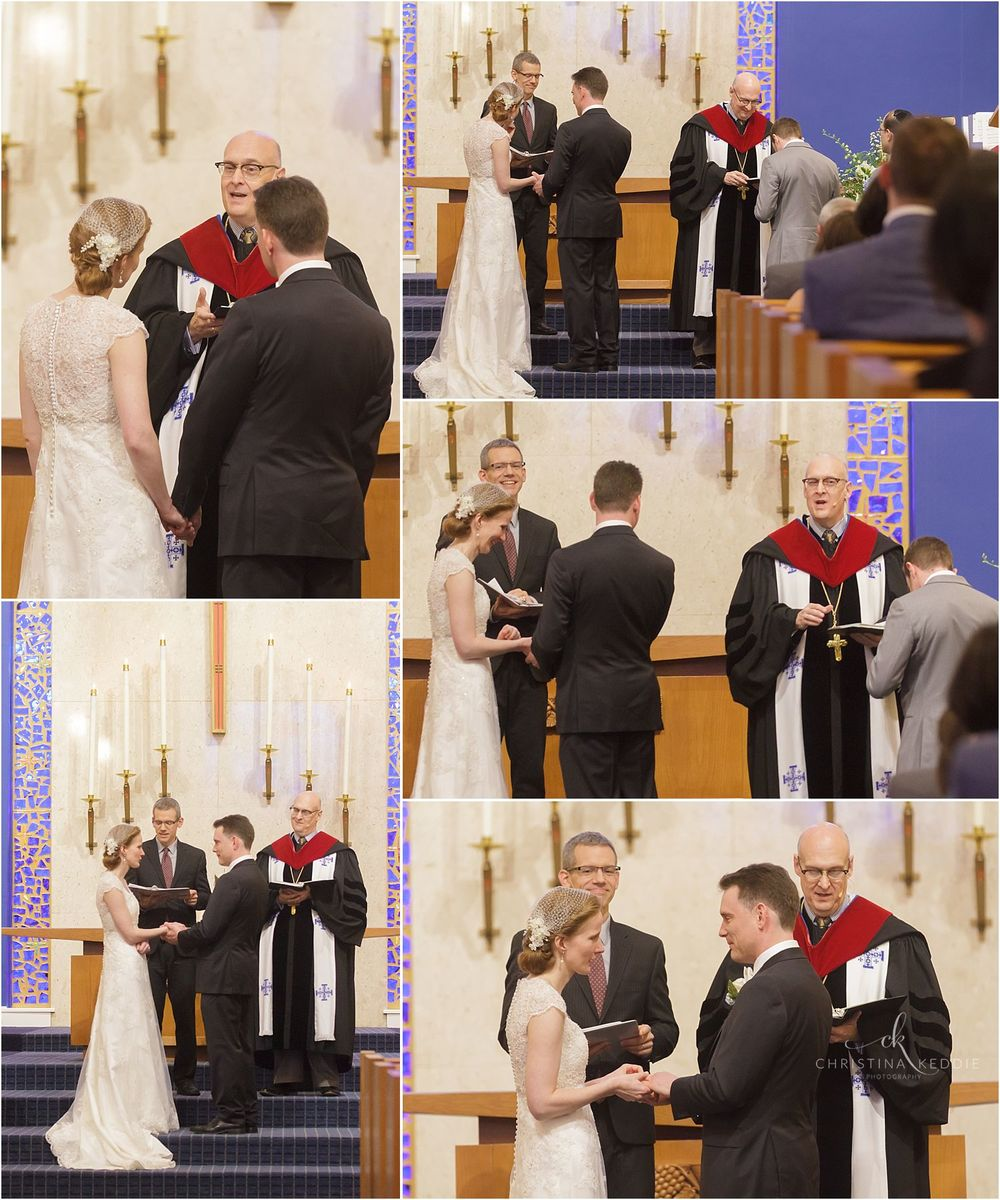 Exchanging vows and rings | Christina Keddie Photography | Cherry Hill NJ wedding photographer