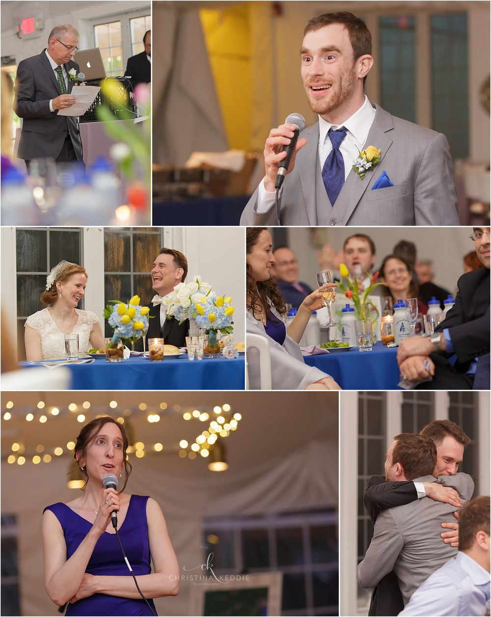 Wedding reception toasts and hugs | Christina Keddie Photography | Voorhees NJ wedding photographer