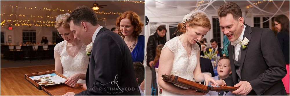 Gift to bride and groom from family | Christina Keddie Photography | Voorhees NJ wedding photographer