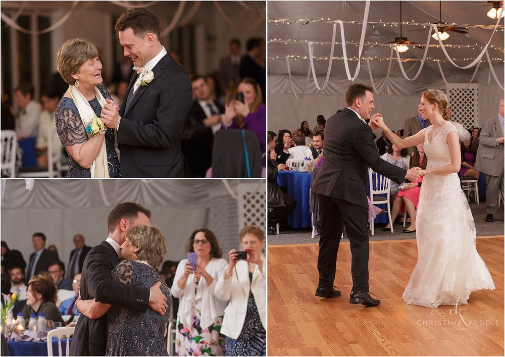 Groom and mother dance, and bride and groom dance | Christina Keddie Photography | Voorhees NJ wedding photographer