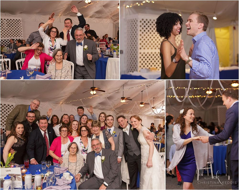 Reception group photos and dancing | Christina Keddie Photography | Voorhees NJ wedding photographer
