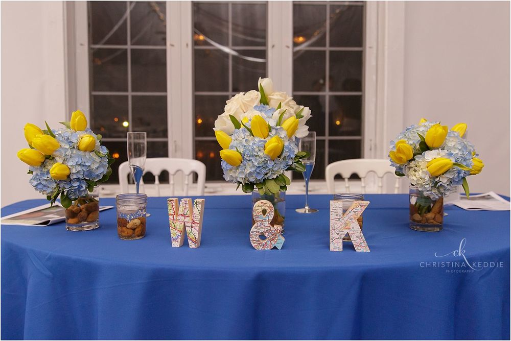 Personalized sweetheart table | Christina Keddie Photography | Voorhees NJ wedding photographer