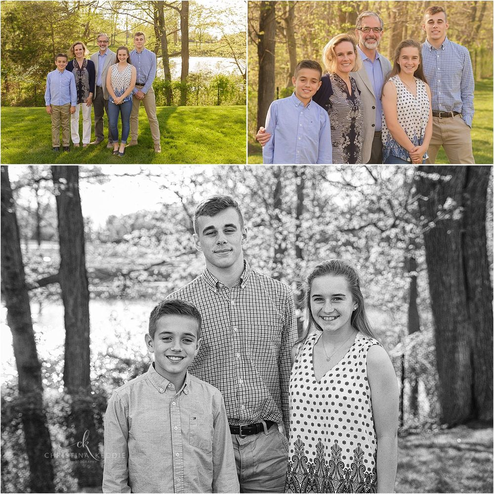 Family portraits with tween and teen siblings | Christina Keddie Photography | Skillman NJ family photographer