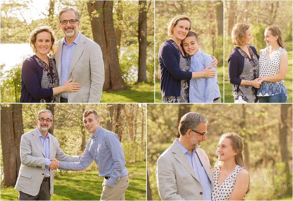 Family combination portraits in lakeside backyard   Christina Keddie Photography   Skillman NJ family photographer