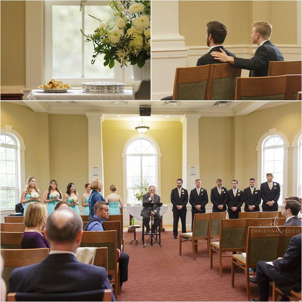 Wedding ceremony at TCNJ's Spiritual Center | Christina Keddie Photography | Ewing NJ wedding photographer