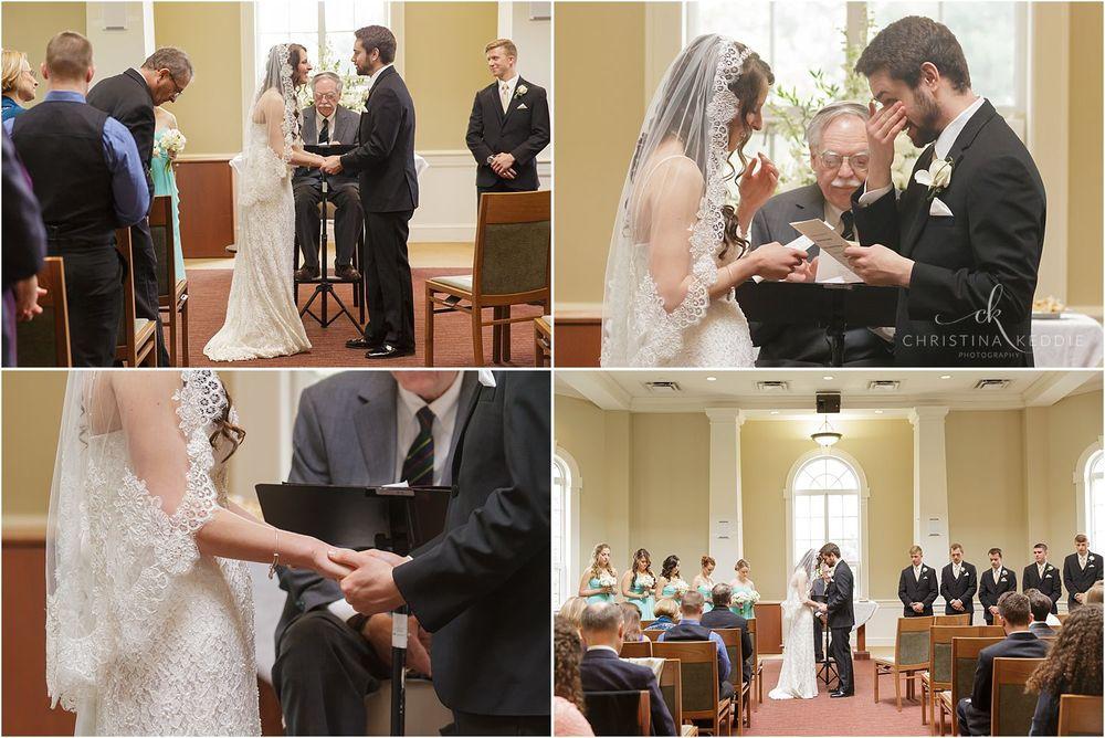 Emotional moments during wedding ceremony | Christina Keddie Photography | Ewing NJ wedding photographer
