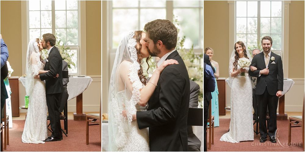 First kiss | Christina Keddie Photography | Ewing NJ wedding photographer