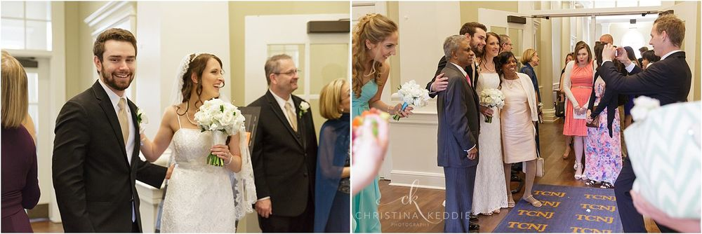 Receiving line after ceremony | Christina Keddie Photography | Ewing NJ wedding photographer