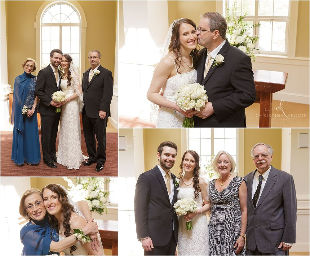Formal portraits with parents and spiritual leaders | Christina Keddie Photography | Ewing NJ wedding photographer