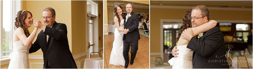 Father-daughter dance at reception in clubhouse | Christina Keddie Photography | Ewing NJ wedding photographer