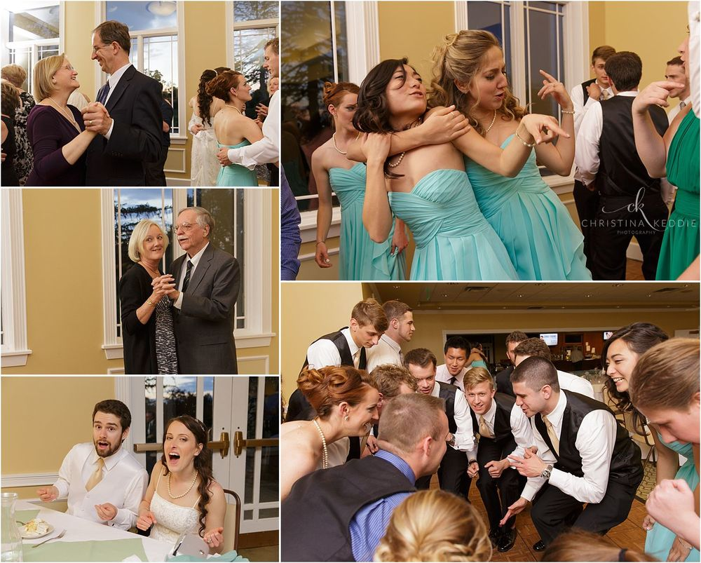 Wedding reception dancing in clubhouse | Christina Keddie Photography | Ewing NJ wedding photographer
