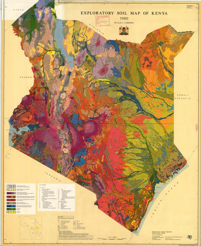Map Of The Month Soil Map Of Kenya Supply Chain Mapping - Map of kenya