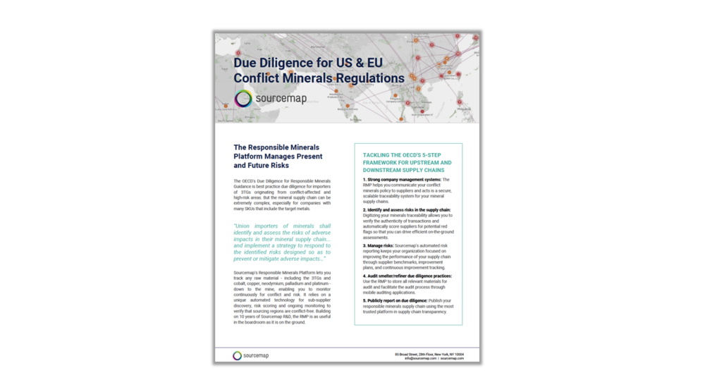 Conflict Minerals on Sourcemap
