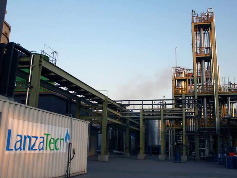 Lanzatech-Baosteel pilot plant in Baoshan, China