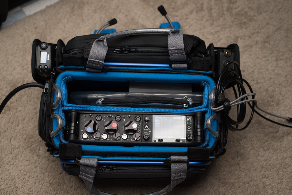 Orca OR-30 bag with Sound Devices 633