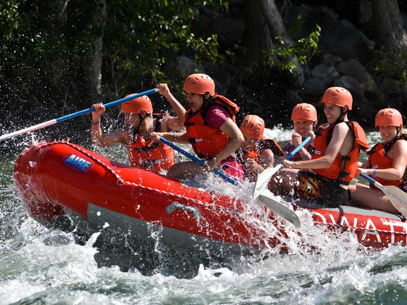 Rafting on the Wenatchee River.