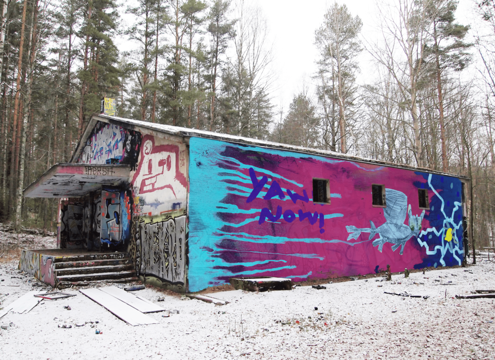 Location: https://commons.wikimedia.org/wiki/File:Graffiti_on_abandoned_building.jpg