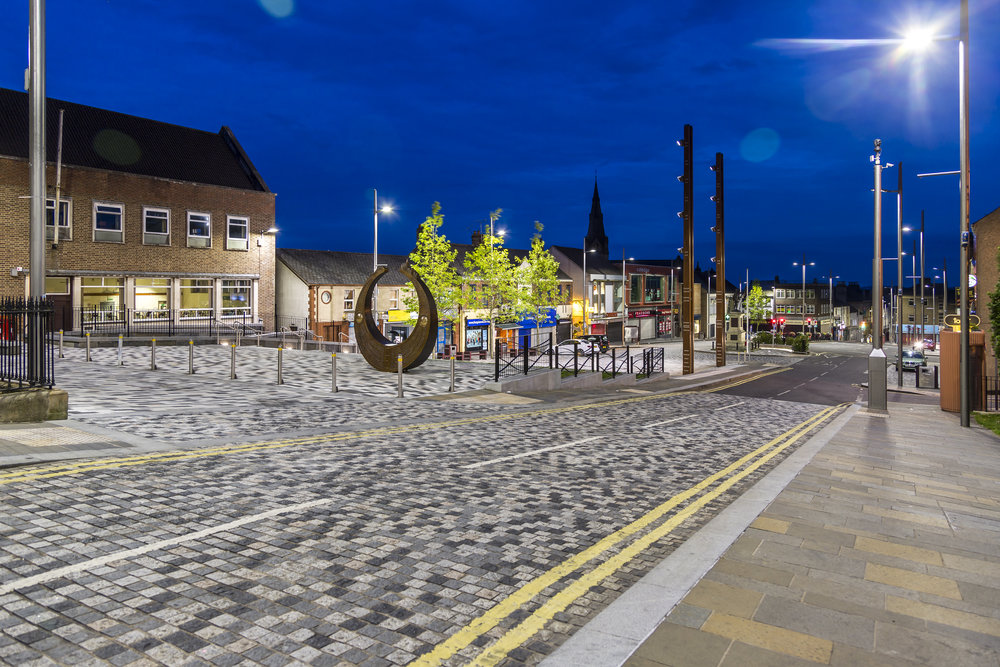 Dungannon Town Centre at Night.jpg
