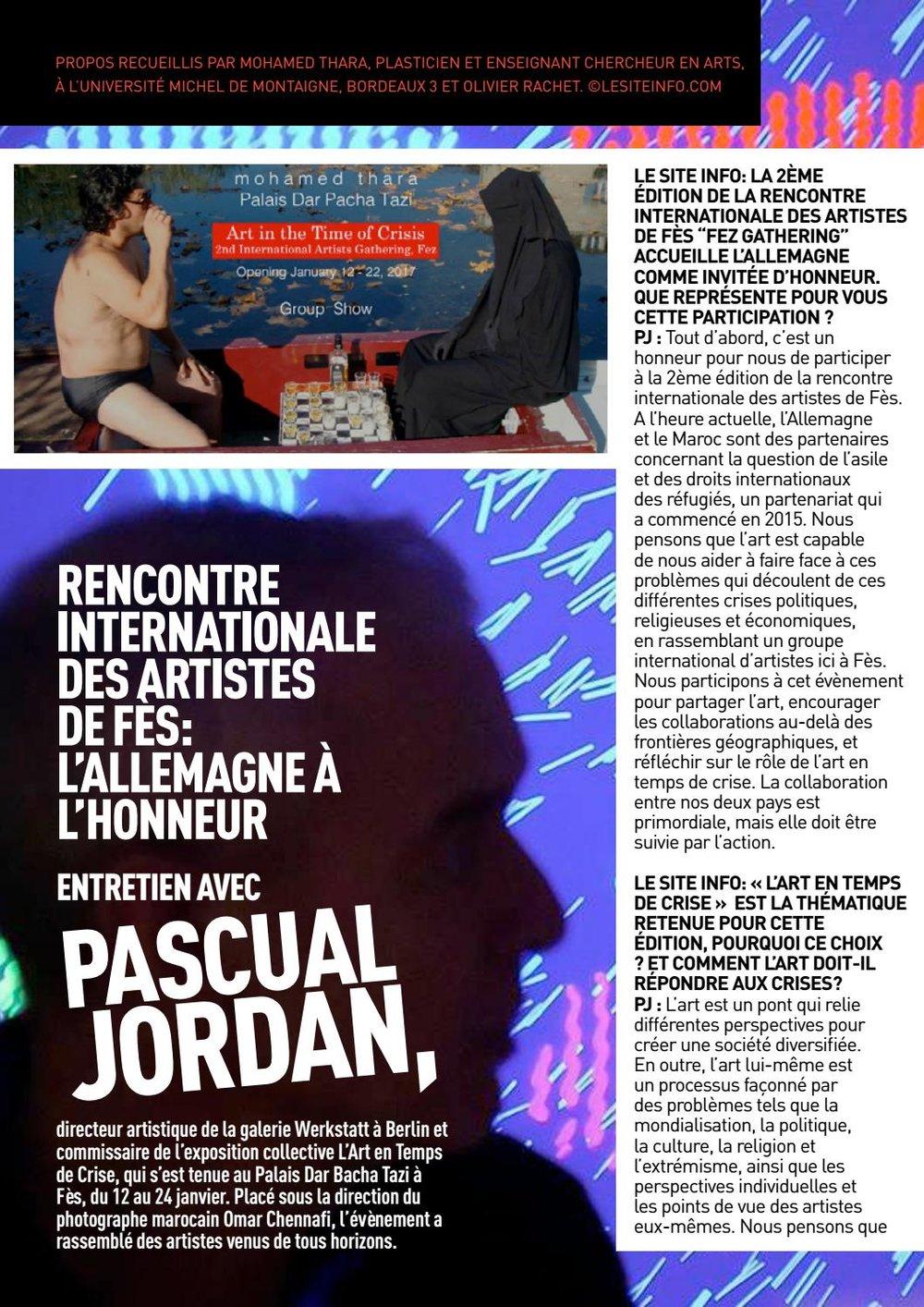 Mohamed Thara L'art en temps de crise Pascual Jordan.jpg