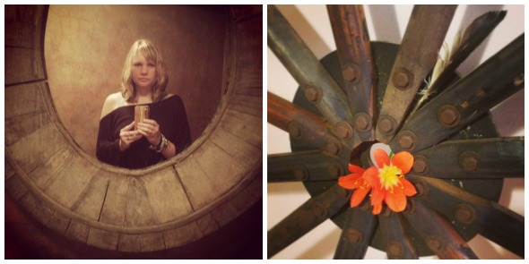 selfie and wheel Collage
