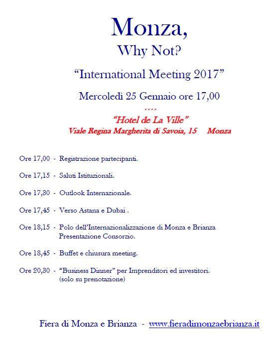 L'evento, tenuto annualmente dall'Ente Fiera Monza e Brianza, vedra' la partecipazione del dott. Silvano Martinotti, BOD della Camera di Commercio Italiana negli EAU, e del Representative della IICUAE, l'Avv. Simone Facchinetti.