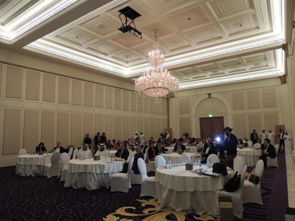 "Ballroom di Palazzo Versace durante la serata ""Italy-EAU: European Arabic Strategic Partnership""."