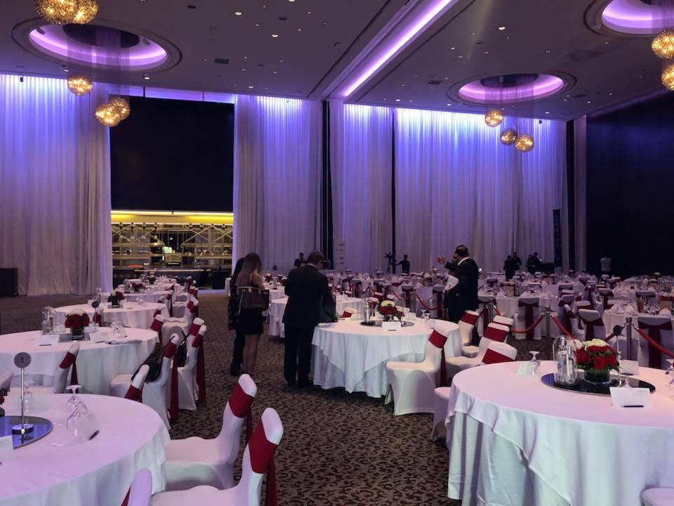 Una panoramica della Ballroom del Le Meridien Hotel & Conference Centre, dove e' stata organizzata l'Asta.