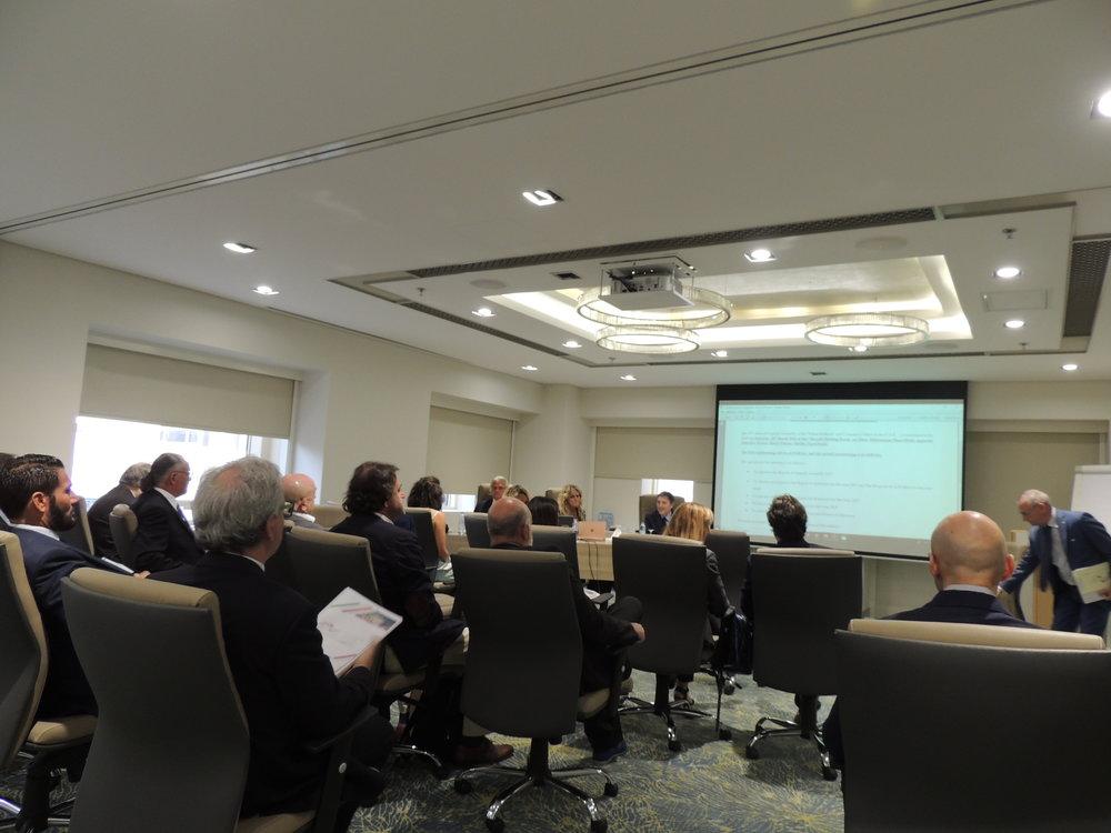 Il Vice Presidente, Piero Ricotti, introduce i lavori della quindicesima Assemblea Generale della IICUAE.