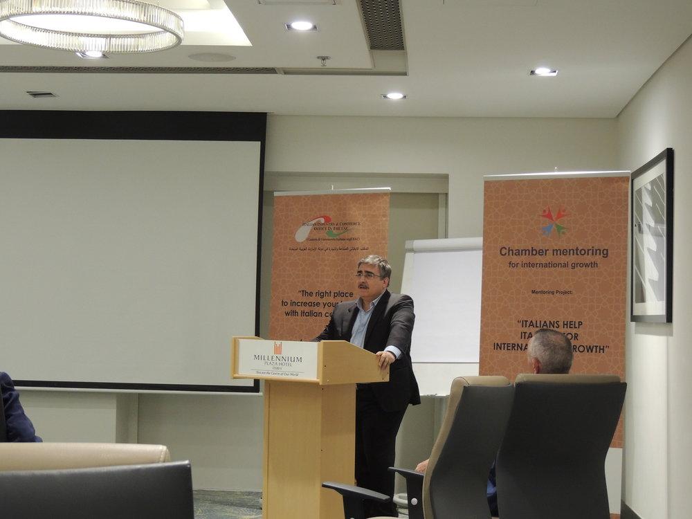 L'Avv. Antonio Varvaro, consulente legale e collaboeratore della IICUAE.